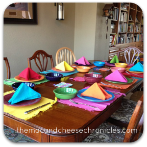 fiestaware table