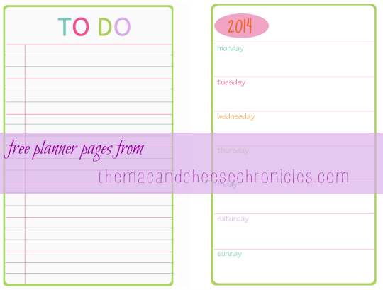 Free 2014 Planner Pages