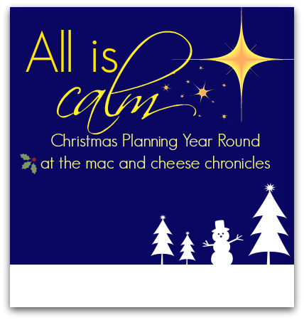 All Is Calm:  Christmas Planning Year Round (with free printables)