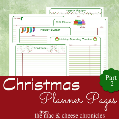 Christmas Planner Part 2