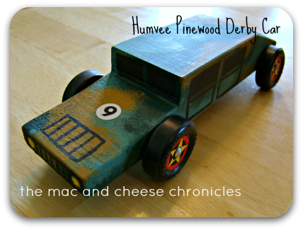 Humvee Pinewood Derby Car