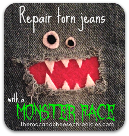 Monster Face Jean Repair